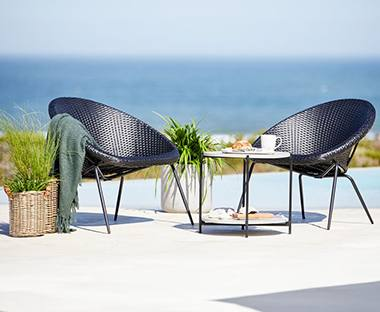 This new range of outdoor furniture comes in different styles, including rattan corner sofa sets, rattan lounge sofas, rattan bistro sets, rattan dining
