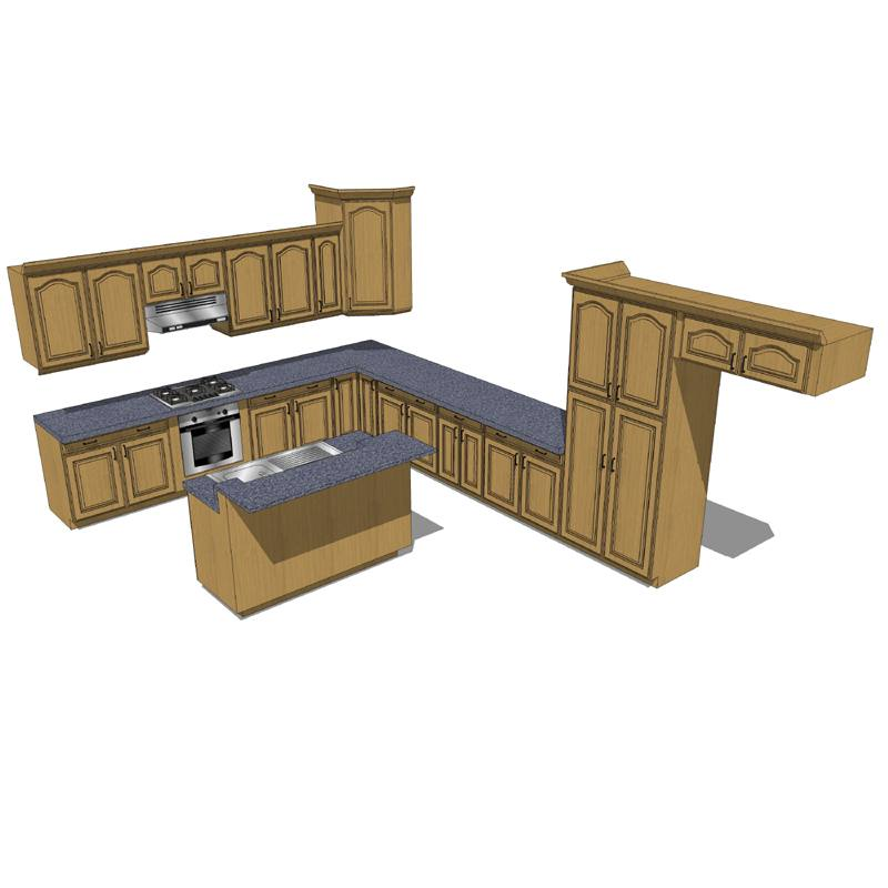 revit kitchen cabinets kitchen cabinets revit models