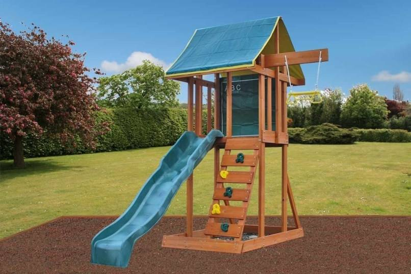 play house ,access ladder,rock wall, babay seat