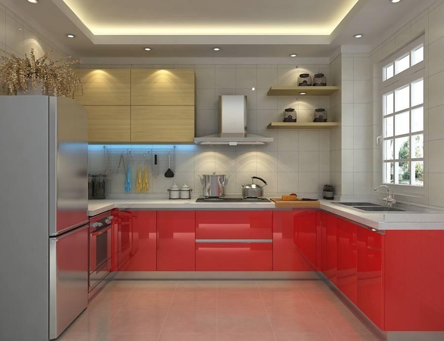 Kitchen, Gloss Black Kitchen Countertops With Rta Cabinets Sets For Corner Model Kitchen Design: