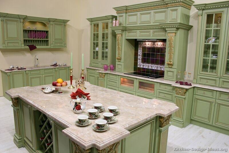Remarkable Green Kitchen Designs Spacious Modern Design 20 Top And