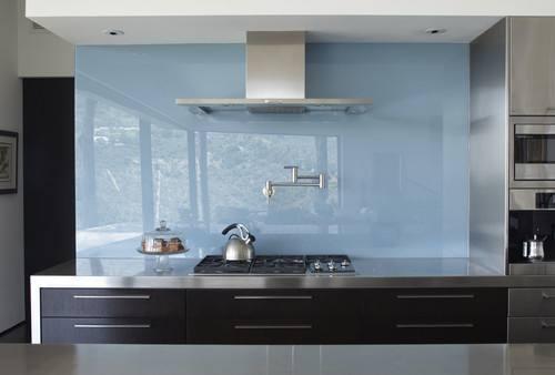 Contemporary Kitchen Design Glass Kitchen Backsplash