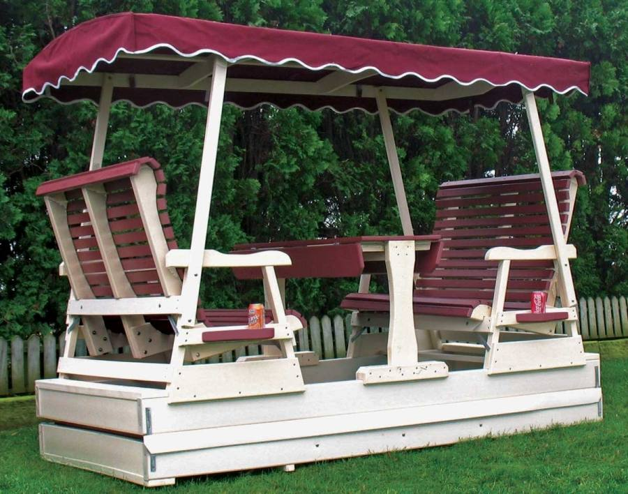 outdoor glider swing with table best garden swings images on decks hammocks and furniture cedar