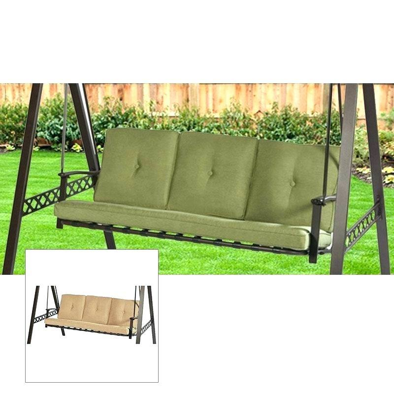 porch swing cushion with attached back