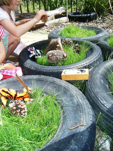 24 Creative Garden Container Ideas I've posted tire planters already, but this contains even more ideas for old tires