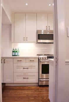 Kitchen Decoration Thumbnail size Modern Pure Blue Kitchen Design Use Elegant Dark Cabinet Decor subway tile