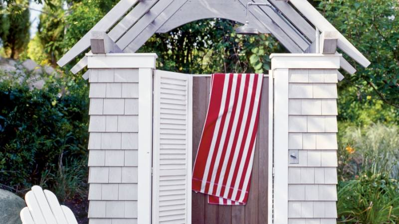 Sophisticated Outdoor Shower Kits On Enclosure Cedar Showers Company