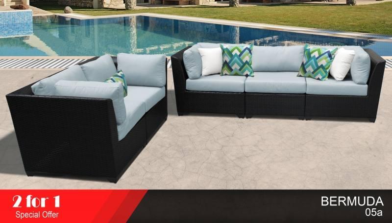 Maze Rattan Bermuda Rattan garden Sofa Set