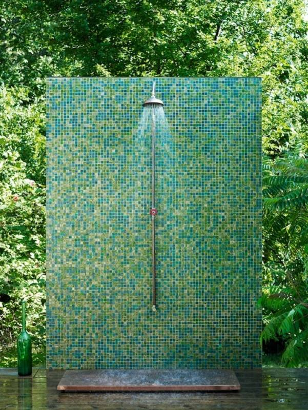 Having an outdoor shower is great when you have a pool outside, or if your home is near a lake or a beach