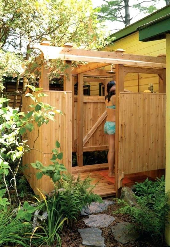 Charming Outdoor Garden And Backyard Shower Space Enclosure Design Ideas Of Style Home Design Property Exterior Design Ideas Outdoor Showers And Tubs Hgtv