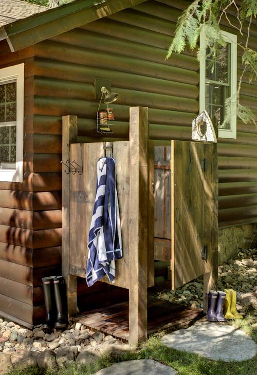 Outdoor showers are an inexpensive luxury to add to your backyard