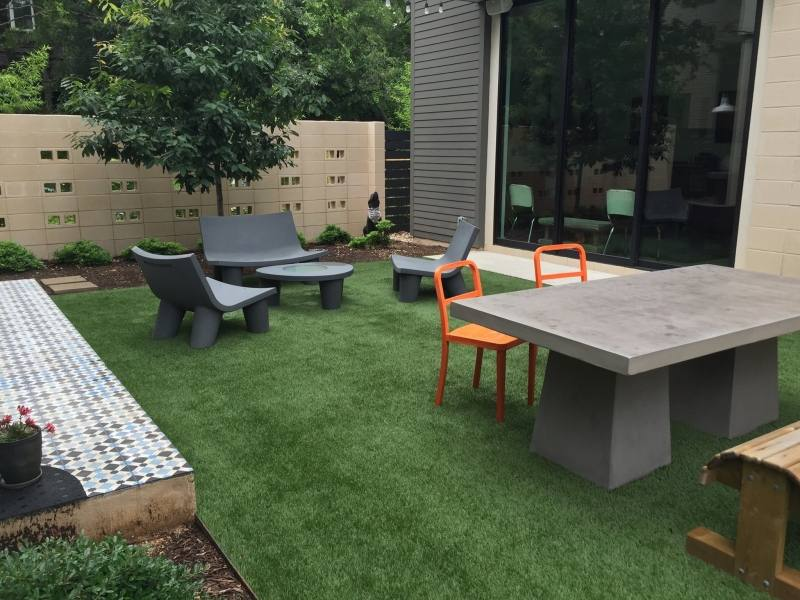 View Larger Image Enjoying Small Artificial Grass Outdoor