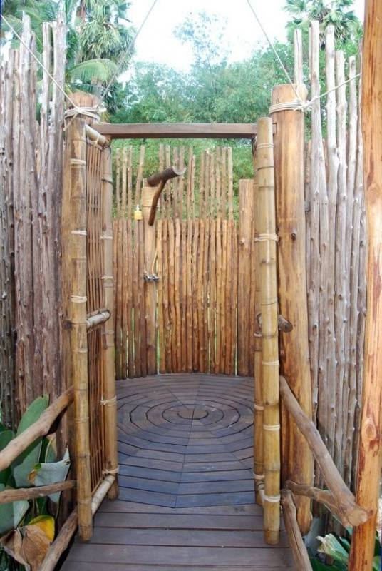bamboo outdoor shower showers outside enclosures cape cod plans designs o enclosure