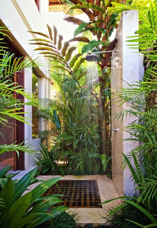 An outdoor shower needn't be overly designed or fancy
