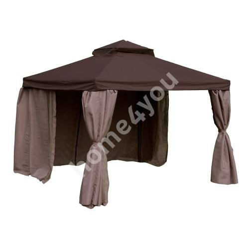 This gorgeous gazebo boasts a 10'x12' size and comes complete with mosquito netting and privacy panels to provide a complete outdoor living solution for