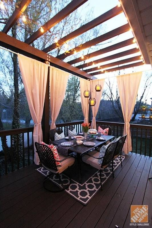 Create levels in a small yard to define spaces, making these areas seem like multiple outdoor rooms