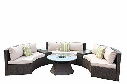 Direct Wicker Baptist 6 Piece Rattan Conversation Set with Cushions