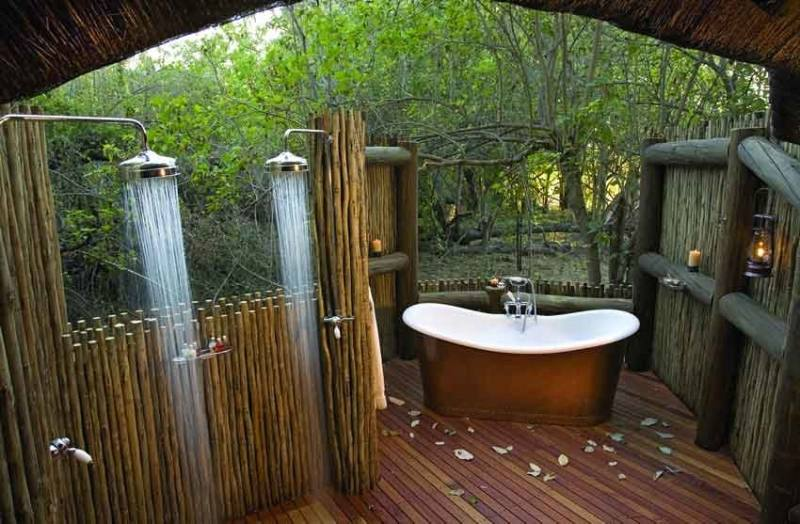 If I lived in a secluded area I would totally have an outdoor shower!