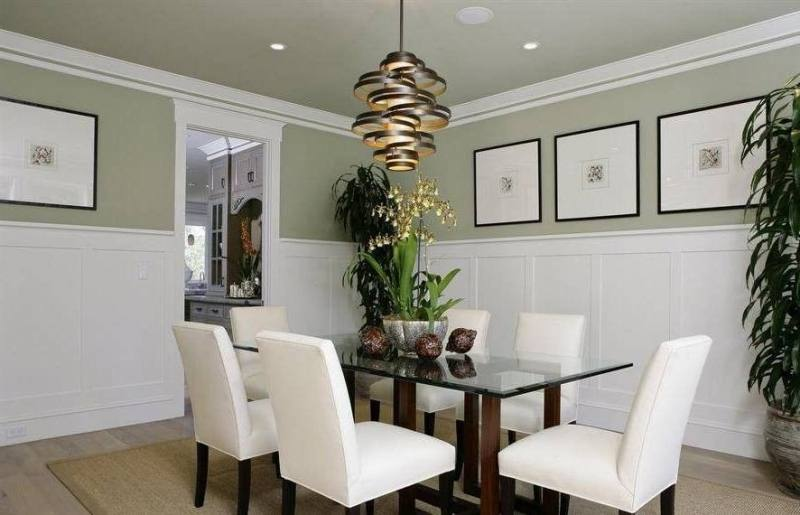 Bright Wall Paneling trend Toronto Traditional Dining Room Innovative  Designs with dining chandelier dining room chairs extension table nailhead  trim dining