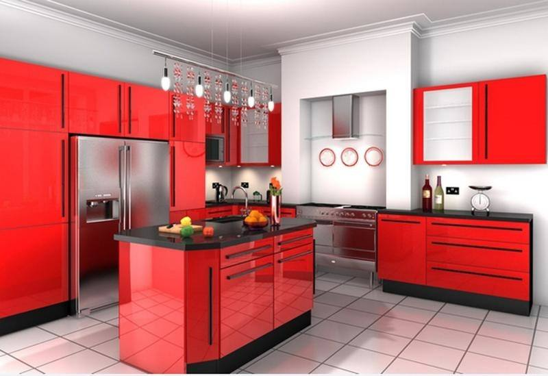 New Ideas Kitchen Color Ideas Red Kitchen Cabinet Red Color Attractive Red Kitchen Ideas