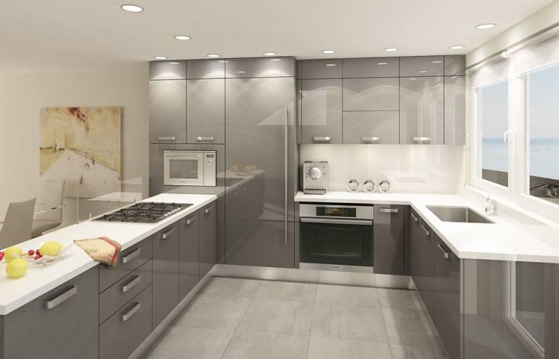 METOD kök med BROKHULT ljusgrå valnötsmönstrade lådfronter