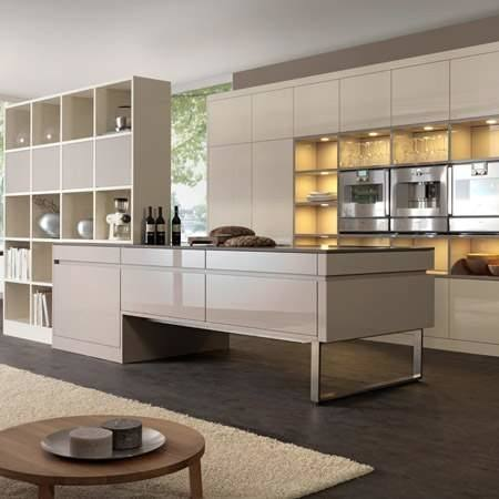 Contemporary White Kitchen Cabinet With Freestanding Stainless Steel Range  And Dishwasher Also Refrigerator With Drawer