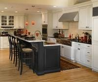 Inspirational Rustic Solid Log Kitchen Cabinets With Stacked Stone Base Kitchen  Island And Rustic Stools As Well As Spot Ceiling Lights As Decorate Rustic
