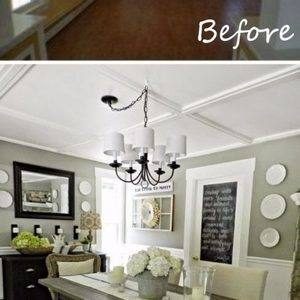 DIY dining table makeover ideas before using glass top