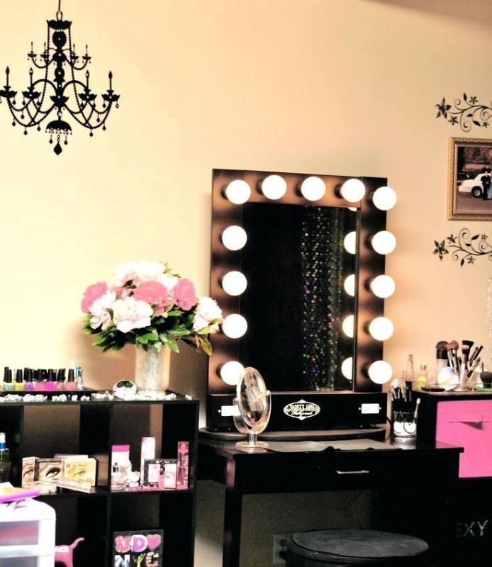 vanity set lights makeup vanity set corner  bedroom