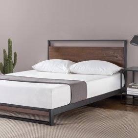 Full Size of Contemporary King Platform Bed Sets Zinus Upholstered Cherry  Hard Wood Size Frame De