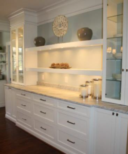 Another of the dizzying array of accessories and options available for RTA kitchen  cabinets is light rail molding
