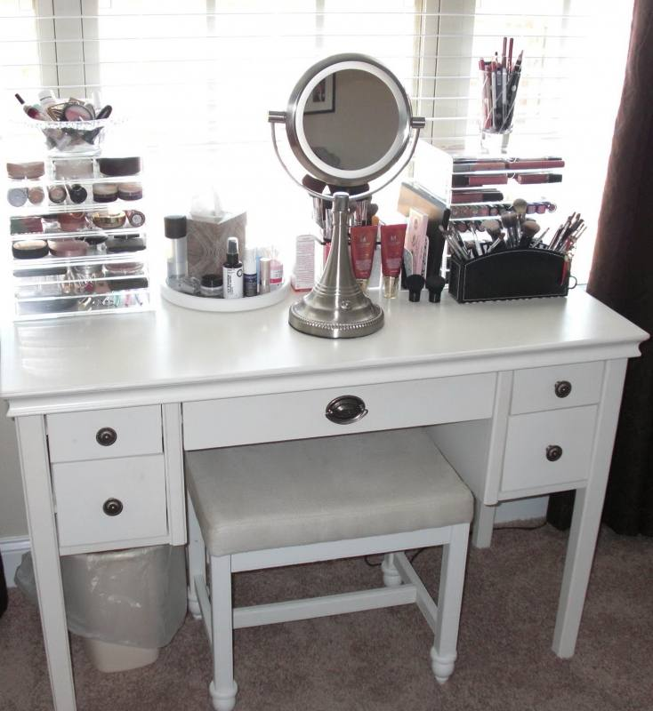 Bedroom Vanity Ikea The Most Beautiful Ideas Image Of Makeup Table Set  Lights White Light