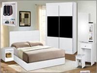 Terbaik Queen Bed Metal White color Wasap