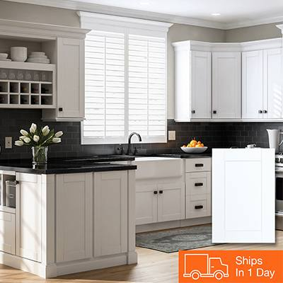 Cherry cabinets with a gray kitchen island