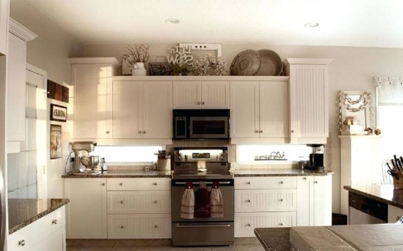 kitchen cabinet decor top