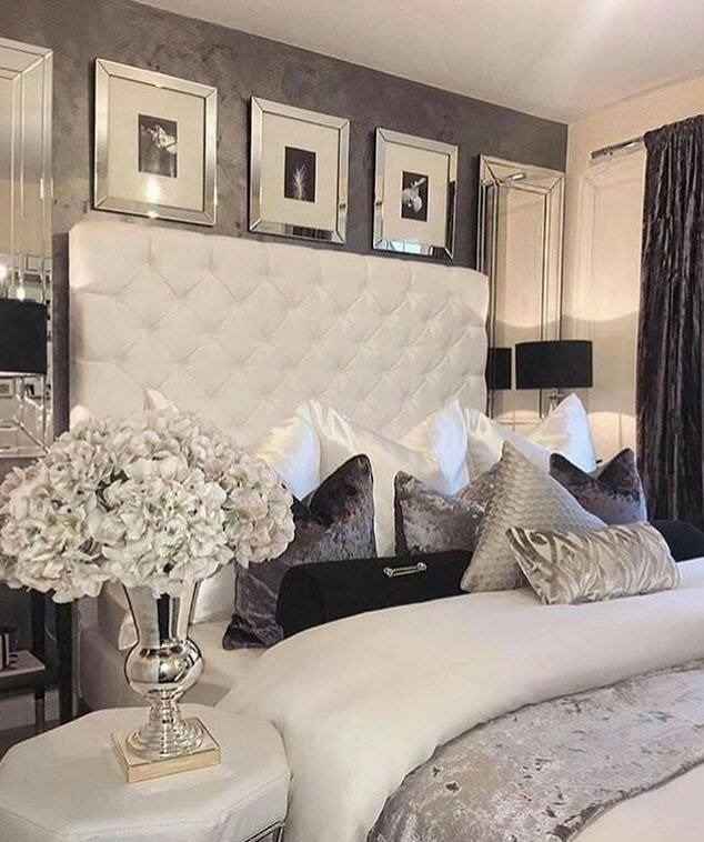 Mixing shades and textures of bed linen creates an inviting, cosy bedding  arrangement
