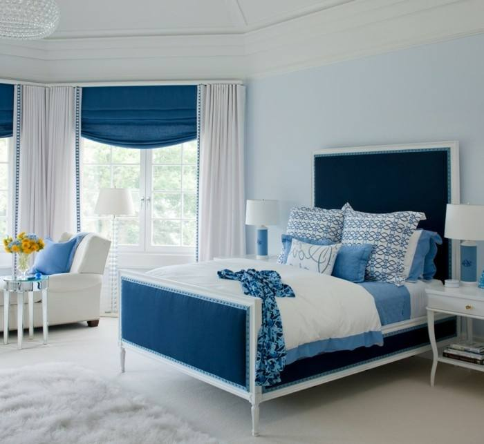 Pair light blue walls with a bright silver statement piece for a great  unified look