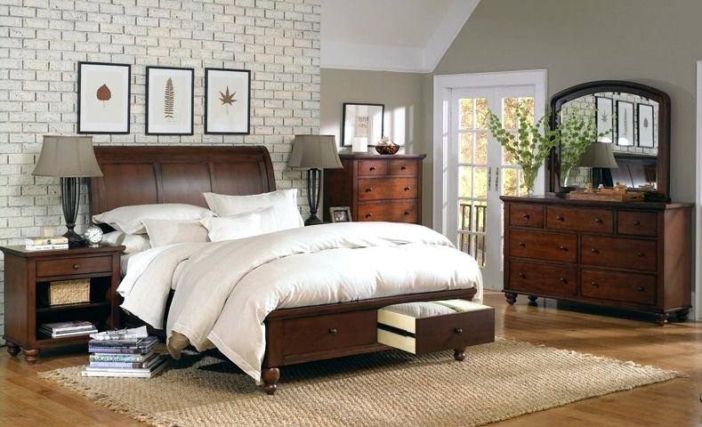 com: 4pc Queen Size Sleigh Bedroom Set Louis Philippe Style in Black Finish: Kitchen & Dining