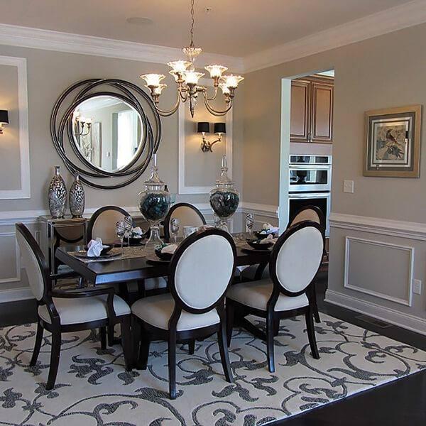 27 Elegant Dining Table Centerpiece Ideas | Mirror centerpiece