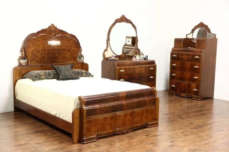Includes queen poster bed, dresser