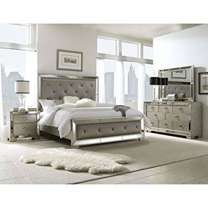Birlanny Silver Upholstered Panel Bedroom Set Media Gallery 6