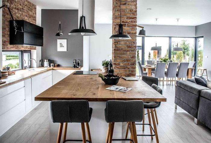Popular Dining Room Floor Lighting Ideas Open Concept Kitchen | Interior |  Pinterest | Tables,