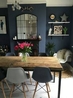 Create a rustic dining room
